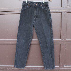 vintage wrangler high waisted black mom jeans